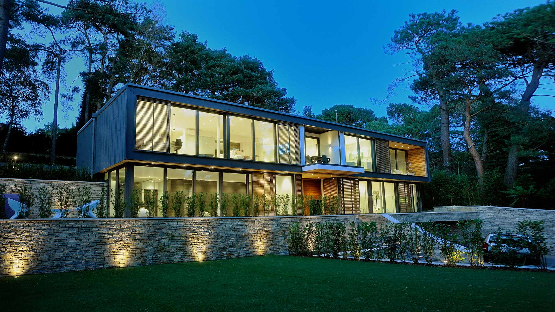 Modern woodland house poole dorset western design - Architects poole dorset ...
