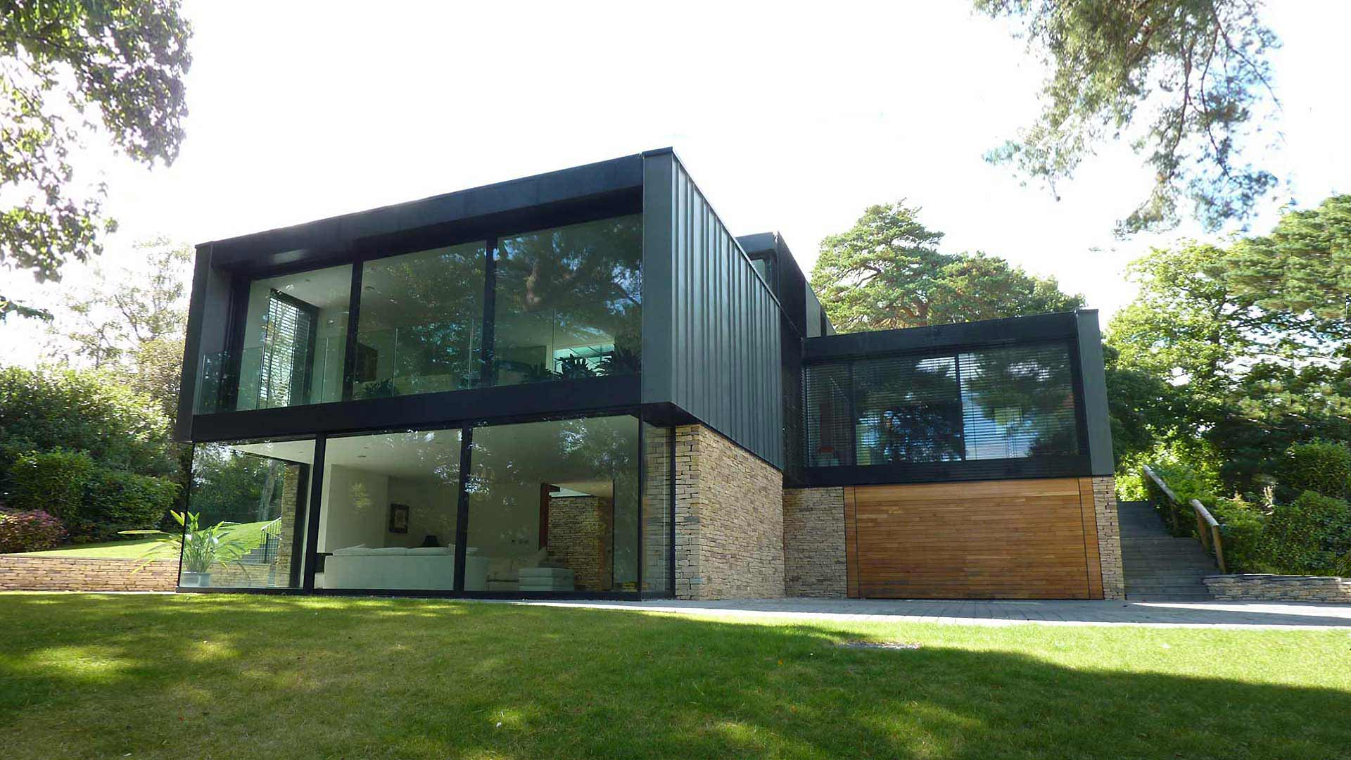 Contemporary zinc clad house poole western design architects for Modern zinc houses
