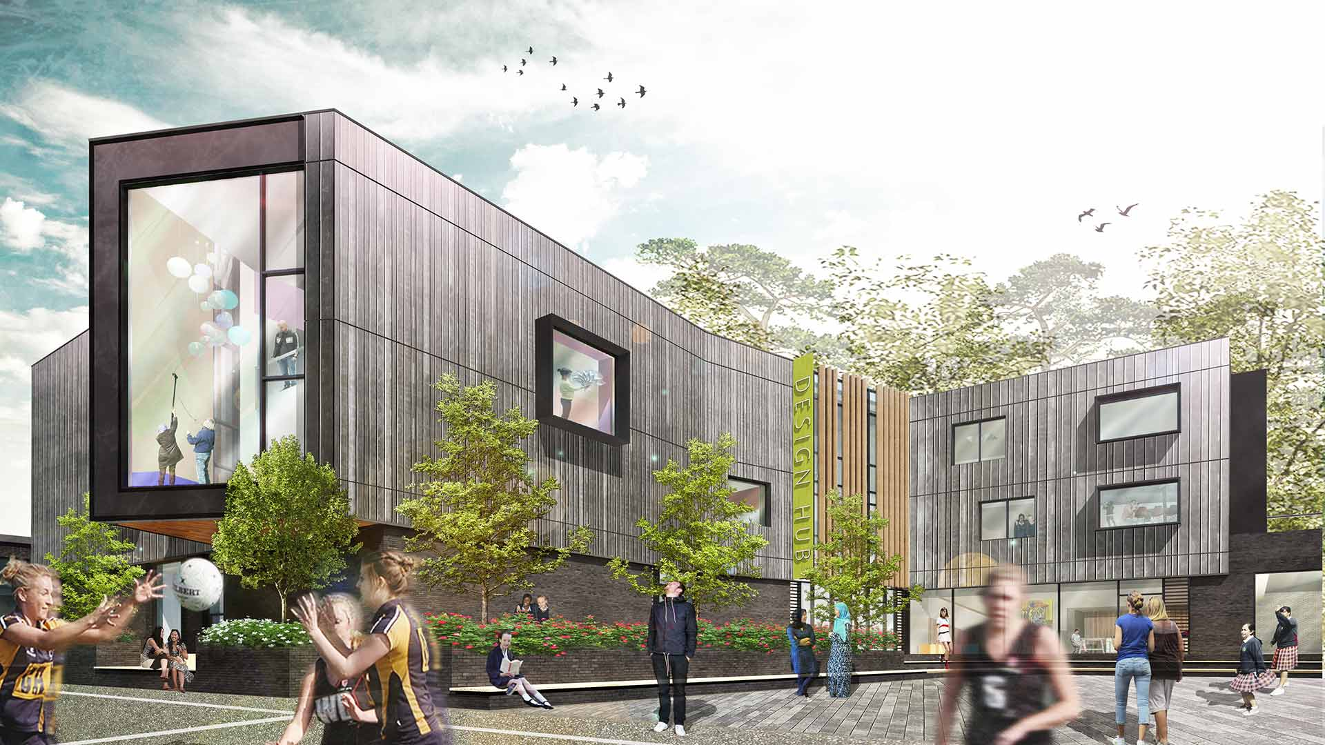 Talbot school building design bournemouth western - College of design construction and planning ...